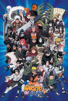 Naruto - Charasters Shippiden Plakat