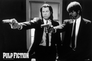 Pulp fiction - guns Plakater