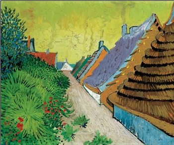 Rue du village Arles Kunsttryk