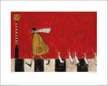 Sam Toft - Crossing With Ducks Reproduktion