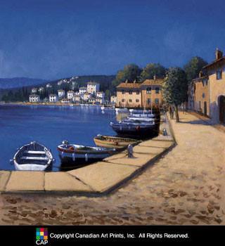 Seaside Promenade I Kunsttryk