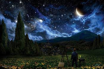 Stjernenatten – Vincent van Gogh Plakat