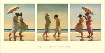 Summer Days Triptych Kunsttryk