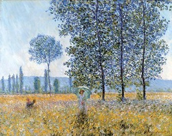 Sunlight Under The Poplars Kunsttryk