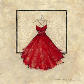 TAKE ME DANCING II - red Kunsttryk