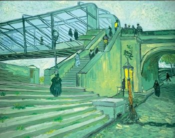 The Trinquetaille Bridge, 1888 Kunsttryk