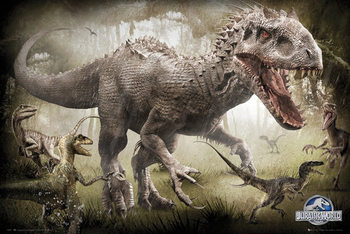 Jurassic World - Raptors Plakat