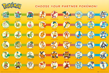 Pokémon - Partner Pokémon Poster