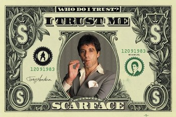 SCARFACE - dollar Plakat