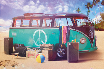 VW Volkswagen Camper - party Poster