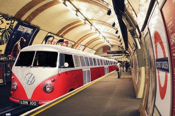 VW Volkswagen Camper - tube Poster