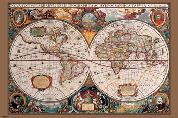 World Map - 17th Century Plakat