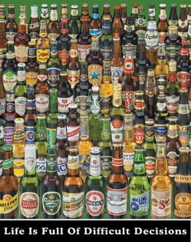 Beer - difficult decisions Plakát