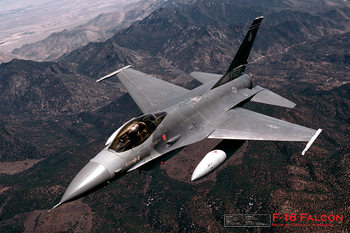 F16 Fighting falcon - airplane Plakát