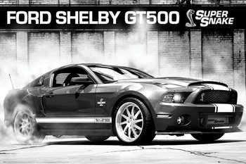 Ford Shelby GT500 - supersnake Plakát