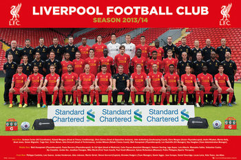 Liverpool FC - Team Photo 13/14 Plakát