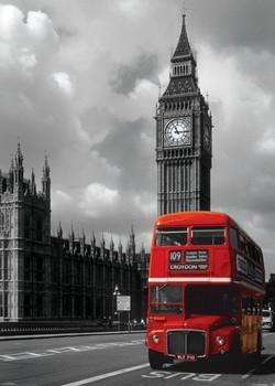 London - red bus plakát