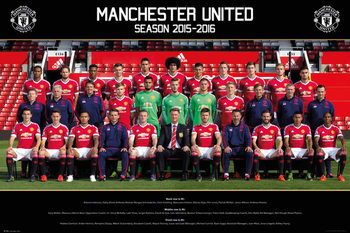 Manchester United FC - Team Photo 15/16 Plakát