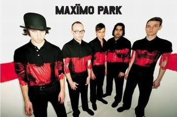 Maximo park - paint Plakát