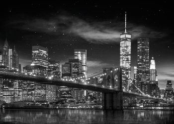 New York - Freedom Tower (B&W) Plakát