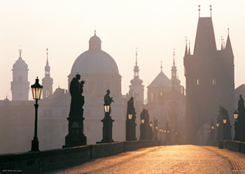 Prague – Charles bridge Plakát