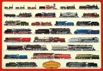 Steam locomotives II Plakát