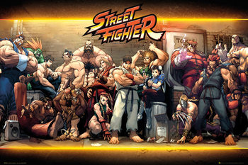 Street Fighter - Characters Plakát