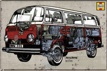 VW Volkswagen Camper - Hayness Campervan Plakát
