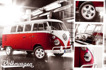 VW Volkswagen Camper - Split Screen Plakát