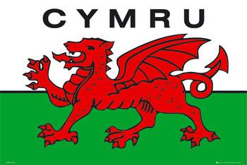 Wales - flag Plakát