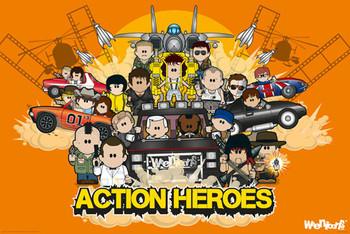 Weenicons - action heroes Plakát