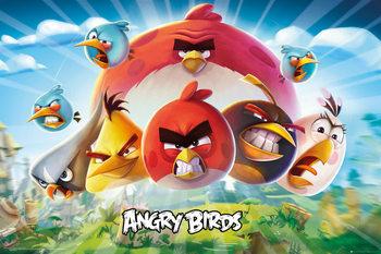Plakát Angry Birds - Keyart