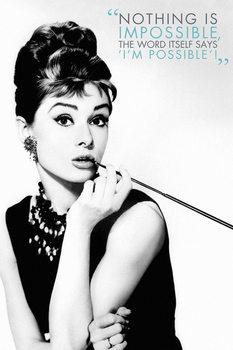 Plakat Audrey Hepburn - Nothing is impossible