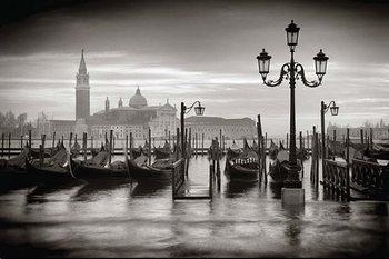 Plakát Benátky - b&w