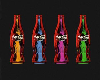 Plakát Coca Cola - popart