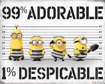 Plakat Gru, Dru i Minionki 3 - 99% Adorable 1% Despicable