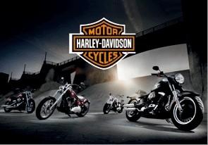 Harley Davidson - bikes  Plakat 3D Oprawiony