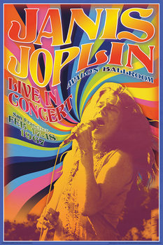 """Plakat Janis Joplin - """"Live In Concert"""""""