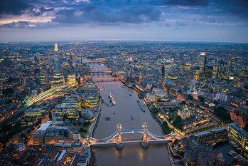 Londýn - Jason Hawkes plakát, obraz