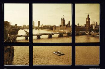 Plakát Londýn - okno