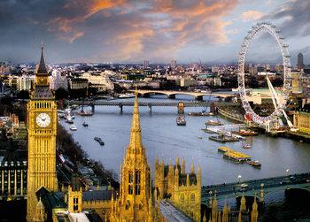 Londýn - Temže plakát, obraz