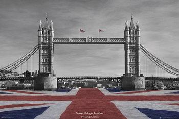 Londýn - Tower Bridge, Tanya Chalkin plakát, obraz