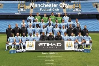 Plakát Manchester City - Team 09/10