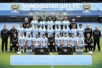 Plakát Manchester City - Team 11/12