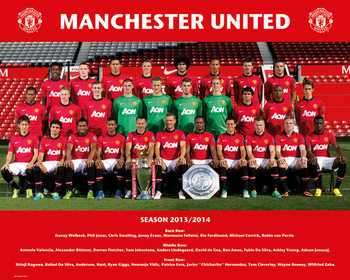 Plakát Manchester United FC - Team Photo 13/14