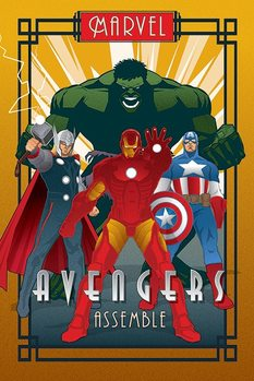 Plakát Marvel Deco - Avengers