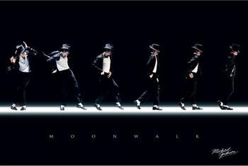 Michael Jackson - moonwalk plakát, obraz