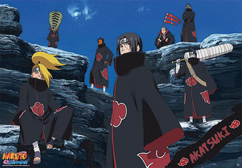 Plakát Naruto Shippunden Akatsuki - Tobi, Hidan, Kakuzu, Deid