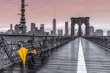 New York - Brooklyn bridge, Assaf Frank plakát, obraz