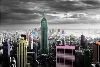 Plakát New York - colour splash